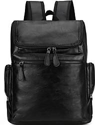 رخيصةأون -سعة كبيرة PU سحاب حقيبة ظهر مناسب للبس اليومي أسود / بني