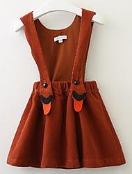 cheap -Kids Girls' Striped Dress Brown