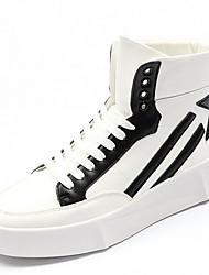 cheap -Men's Comfort Shoes Microfiber Fall & Winter Sneakers Color Block Black / Red