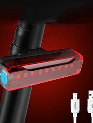cheap -LED Bike Light Lighting Rear Bike Tail Light Bicycle Cycling Waterproof Portable USB Charging Output Rechargeable Battery Lithium Battery 500 lm Rechargeble Battery Built-in power supply Red Cycling
