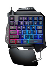 cheap -LITBest G92 USB Wired Gaming Keyboard Ergonomic Keyboard Gaming Luminous Multicolor Backlit 35 pcs Keys