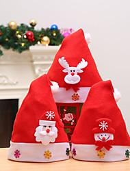 cheap -3PCS Christmas Ornaments Decoration Christmas Hats Santa Hats Children Women Men Boys Girls Cap for Christmas Party Props