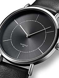 cheap -YAZOLE Men's Dress Watch Quartz Formal Style Stylish Leather Black / Brown Casual Watch Analog Fashion - Black Black / White White / Brown One Year Battery Life / Stainless Steel