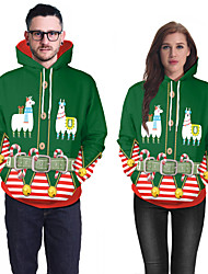 cheap -Santa Suit Ugly Christmas Sweater / Sweatshirt Couple's Adults' Christmas Christmas Christmas Lycra Spandex Top