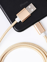 cheap -Lightning / Type C Cable 1.M  Fast Charging Nylon Zinc Alloy Data Cable Usb Cable Apple Charging Data Cable