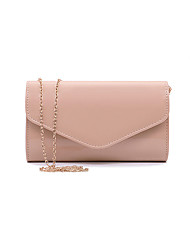 cheap -Women's Chain PU Leather / Card Paper Evening Bag Wedding Bags Solid Color White / Black / Red / Fall & Winter
