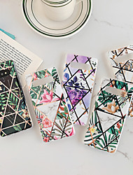 cheap -Case For Samsung Galaxy S9 / S9 Plus / S8 Plus/S10/S10 plus/Note9/Note9 plus/Note10/Note10 plus/Note10 pro Dustproof / Plating / IMD Back Cover Geometric Pattern / Flower TPU