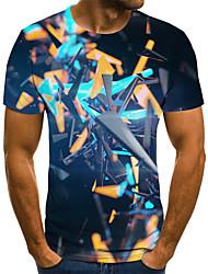 cheap -Men's Daily T-shirt - Geometric Rainbow