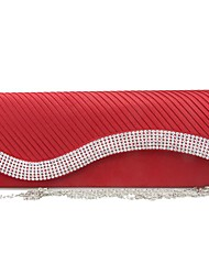 cheap -Women's Crystals / Embossed Silk Evening Bag White / Red