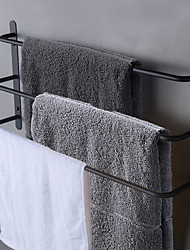 cheap -45/60 cm Bathroom Towel Bar Multilayer Bathroom Shelf Contemporary Polished Stainless Steel Bathroom 3-tier Towel Bar Wall Mounted