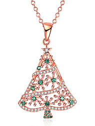 cheap -Women's Pendant Necklace Geometrical Christmas Tree Fashion Chrome Gold 45 cm Necklace Jewelry 1pc For Christmas Daily