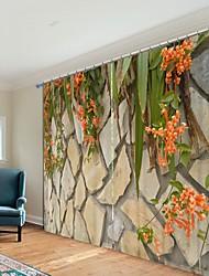 abordables -impression numérique de fleurs sur le rideau d'ombrage 3d de la pierre 3d rideau de haute qualité