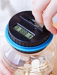 Недорогие -Копилки Электроника Цифровой Подсчет монет Высококачественный пластик ABS для Детские Взрослые Мальчики Девочки
