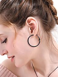 cheap -Women's Ear Piercing Drop Earrings Hoop Earrings Geometrical Vertical / Gold bar Stainless Steel Earrings Jewelry Black / Gold / Silver For Christmas Gift Daily Carnival Festival 1 Pair