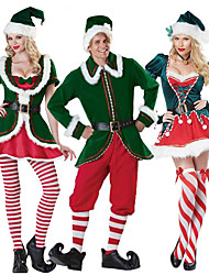 cheap -Santa Claus Cosplay Costume Women's Adults' Costume Party Christmas Christmas Velvet Costume