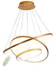 cheap -1-Light Modern Electrodeless Dimming Led Pendant Lights 100W Simplicity Three Rings office Living Room Bedroom Restaurant Chandelier