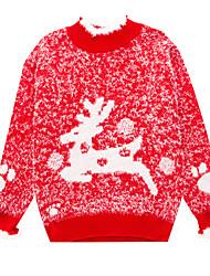 cheap -Kids Toddler Girls' Active Basic Deer Jacquard Christmas Fur Trim Long Sleeve Sweater & Cardigan Blushing Pink