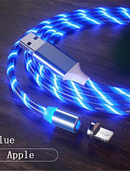 cheap -Lightning Cable 1.0m(3Ft) LED Luminescent USB Cable Adapter For iPhone