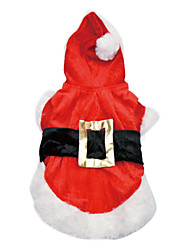 cheap -Dog Cat Dress Vest Christmas Christmas Winter Dog Clothes Puppy Clothes Dog Outfits Red+Black Red Costume for Girl and Boy Dog Polyester Canvas Mixed Material XXS XS S M L