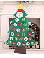 cheap -Felt Christmas Tree Decoration Novelties Hanging Number
