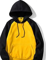 cheap -Men's Basic Hoodie - Color Block Black US34 / UK34 / EU42