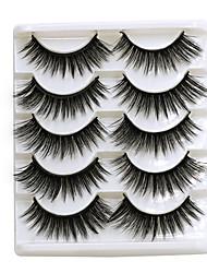 cheap -5Pairs 3D Mink Hair False Eyelashes Natural Thick Long EyeLashes Wispy Makeup lashes Beauty Extension Tools