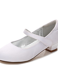 cheap -Girls' Mary Jane Satin Heels Little Kids(4-7ys) / Big Kids(7years +) White / Purple / Champagne Spring / Party & Evening