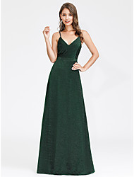 cheap -A-Line Jewel Neck Floor Length Satin Formal Evening Dress with by LAN TING Express