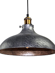 cheap -Vintage Pendant Lights Industrial 1-light Silver Gray Metal Dining Room Hallway Cafe Bars Clothing Store Lighting