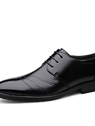 cheap -Men's Bullock Shoes Nappa Leather Spring & Summer / Fall & Winter British Oxfords Non-slipping Black / Brown