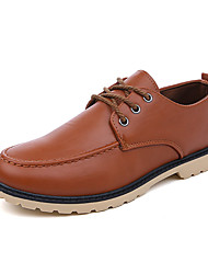 cheap -Men's Comfort Shoes PU Fall Casual Oxfords Non-slipping Black / Brown