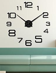 Недорогие -настенные часы, современная современная нержавеющая сталь