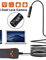 cheap -Double Lens 8MM Endoscope HD Wifi Camera IP67 Waterproof Inspection Borescope Camera for Android PC Notebook 6LEDs Adjustable