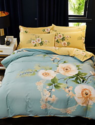 cheap -Duvet Cover Sets Floral / Botanical Polyester / Polyamide Printed 1 PieceBedding Sets