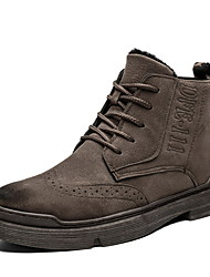 cheap -Men's Suede Shoes Suede Fall & Winter Boots Booties / Ankle Boots Black / Beige / Coffee