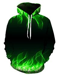 cheap -Men's Hoodie 3D Daily Basic Casual Hoodies Sweatshirts  Green