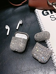 cheap -Case For AirPods Rhinestone Headphone Case Hard