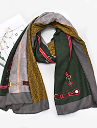 cheap -Women's Active / Cute Rectangle Scarf - Print