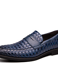 cheap -Men's Formal Shoes PU Spring & Summer / Fall & Winter Casual / British Loafers & Slip-Ons Black / Brown / Blue