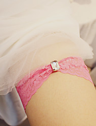 cheap -Lace Wedding / Simple Style Wedding Garter With Sparkling Glitter / Lace Garters Wedding Party