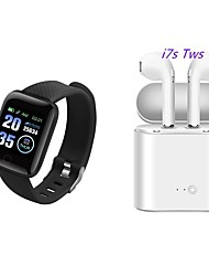 cheap -116 PLUS Smartwatch with Free TWS Wireless Headphone BT Fitness Tracker for Samsung/ Iphone/ Android Phones