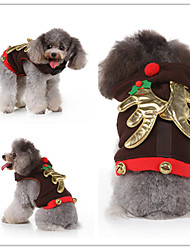 cheap -Dog Cat Dress Tuxedo Vest Euramerican Christmas Dog Clothes Black Costume Polyester Canvas Mixed Material S M L XL
