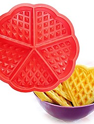 cheap -Heart Shape Waffles Mold 5 Cavity Bundt Oven Muffins Baking Mould Cake Pan Silicone Mold Cake Decorating Tools