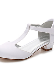 cheap -Girls' Mary Jane Satin Heels Little Kids(4-7ys) / Big Kids(7years +) White / Ivory Spring / Party & Evening