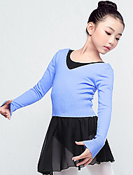 cheap -Ballet Tops Girls' Training / Performance Orlon Ruching Long Sleeve Natural Top