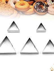 Недорогие -из нержавеющей стали формы для выпечки diy формы для выпечки 5 шт. треугольная форма инструмент печенье печенье мусс пудинг маленький торт плесень