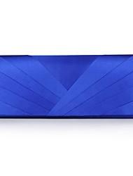 Недорогие -Жен. Цепочки / С отверстиями Полиэстер / Шелк Вечерняя сумочка Полоски Серебряный / Синий