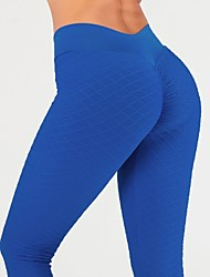 cheap -Women's Yoga Pants Winter Ruched Butt Lifting Dark Grey Green Blue Pink Fitness Gym Workout Tights Leggings Sport Activewear Butt Lift Tummy Control Squat Proof High Elasticity Skinny