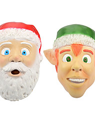 cheap -Santa Claus Mask Men's Adults' Costume Party Christmas Christmas Silicon / Women's