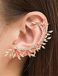 cheap -Women's Clip on Earring Ear Cuff Hollow Out Leaf Precious Fashion Earrings Jewelry Gold / Silver For Party Daily Street 1pc